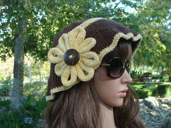 Sofort lieferbar: stricken Sonnenblume Sonnenhut Zubehör | Etsy