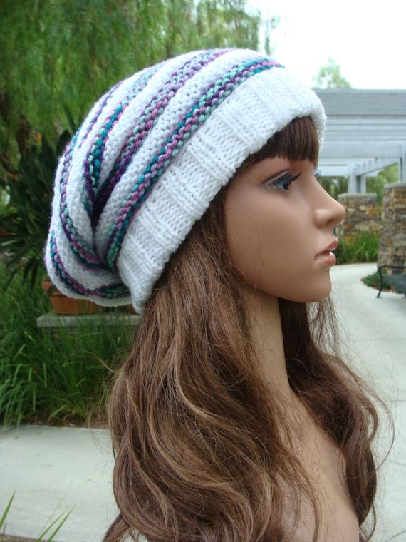 Diy Knitting Pattern 83 Beehive Knit Slouchy Hat Pattern Etsy