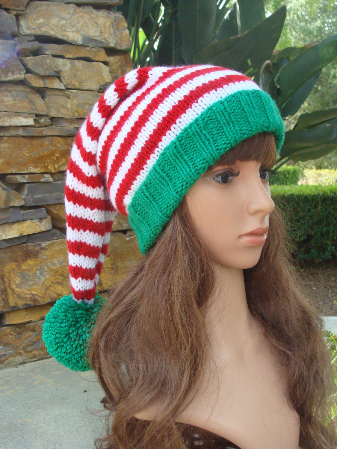 DIY Knitting PATTERN 151: Santa Knit Hat with Pom-pom | Etsy