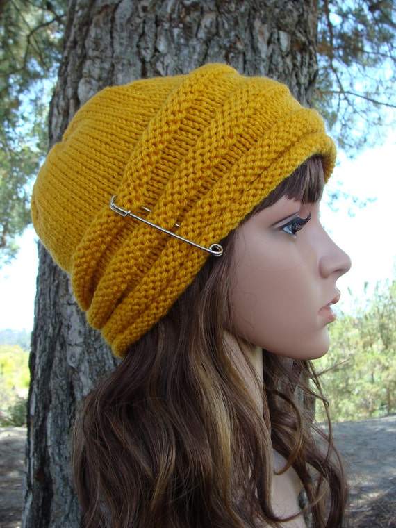 Diy Knitting Pattern 4 Womens Beehive Knit Hat Pattern Etsy