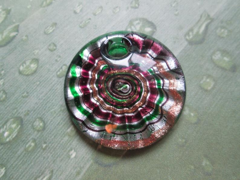 Hemp Necklace Shell Swirl Necklace Custom Hemp Necklace with Colorful Glass Swirl Pendant Beach Jewelry Hemp Jewelry
