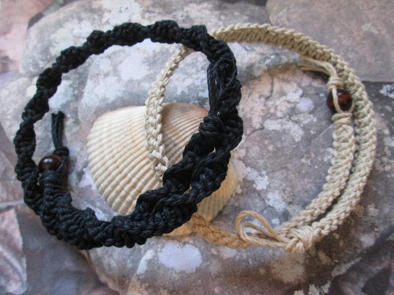 Jellyfish Pendant Thick Hemp Necklace Custom Thick Hemp Necklace with Red Glass Jellyfish Pendant Iridescent Hippie Hemp Jewelry