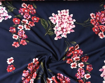 Abstract Watercolor Floral ITY Print #358 Stretch Poly Lycra Spandex Fabric BTY