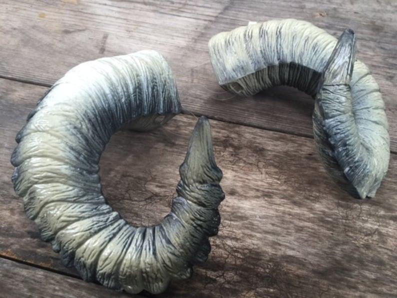 Wearable Ram Horns Marko For Cosplay Festivals Etsy