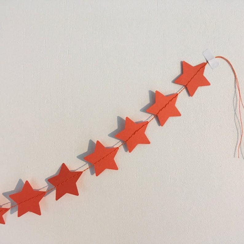 star pendulum garland decoration dark orange intensive orange
