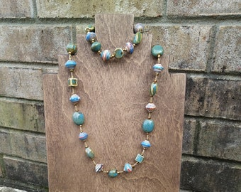 Turquoise Bracelet and Necklace Set