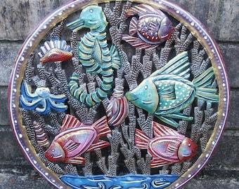 Haitian Metal Aquarium Art