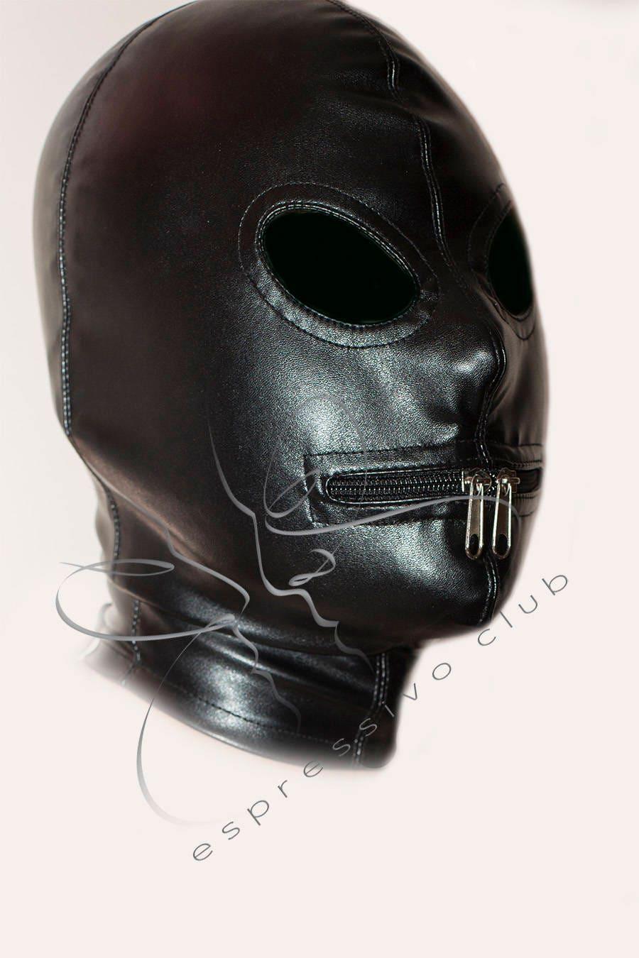 Leather hood mask