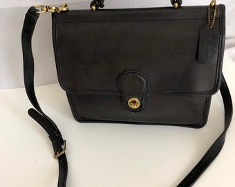 1bdda17078 Vintage Coach Willis Black Crossbody Messenger 9927