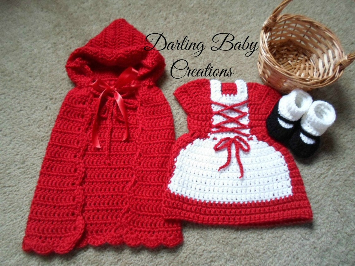 Crochet Little Red Riding Hood Set Costume