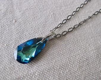Swarovski Drop Pendant Crystal Necklace