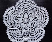 White crochet doily No.17, 20 cm 7.9 inch in diameter
