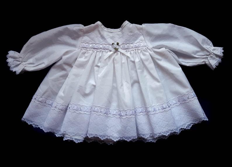 1632a75320b Bambino bianco Vintage Girl Dress Lace. 3 6 mesi. Abito di | Etsy