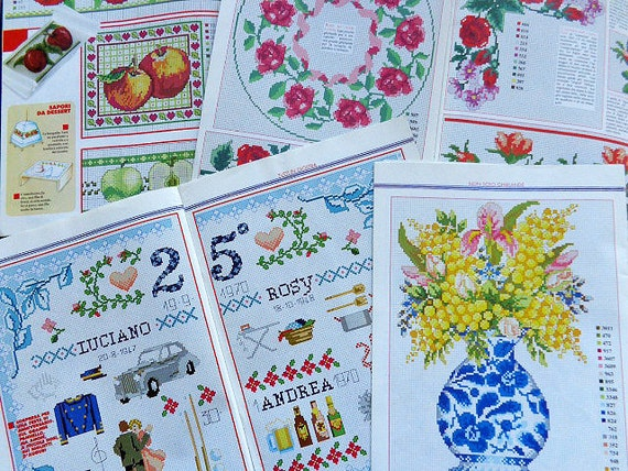 Embroidery Cross Stitch Magazine Set Of Four