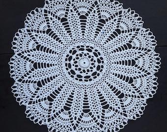 White round crochet doily No.5