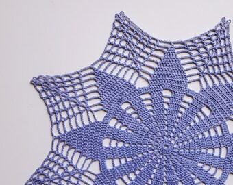 Blue crochet doily