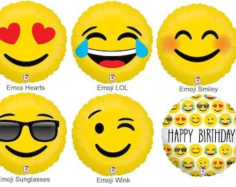CLEARANCE 18 Emoji Foil Balloon Inch Birthday Wedding Party Decor Prop Same Day Shipping