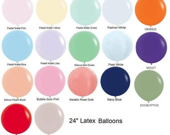 "Peach Blush-Mint Green Balloons 24"" Premium Quality Balloons Wedding Party Decor prop ""Same Day Shipping Monday-Saturday"""