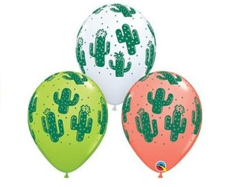 "Cactus Balloons, Set of 10 Latex Balloons,11"" Balloons Farm Party Dairy Birthday Party Decor Prop ""Same Day Shipping Monday-Saturday"""