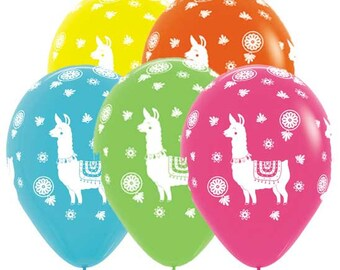 "11"" Llama Assortment Balloons, Set of 10 Latex Balloons Birthday Party Decor Prop ""Same Day Shipping Monday-Saturday"""