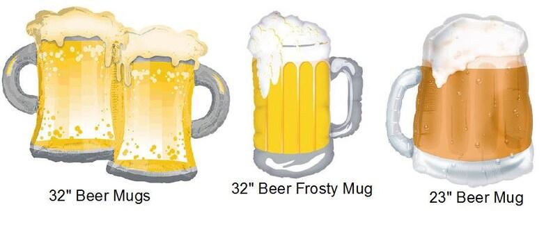Beer Mug Foil Balloon Birthday Wedding Party Decor Prop Etsy