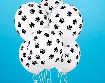 "Paw Print Balloons, Set of 10 latex Balloons, 11"" Balloons Party  Decor prop ""Same Day Shipping Monday-Saturday"""