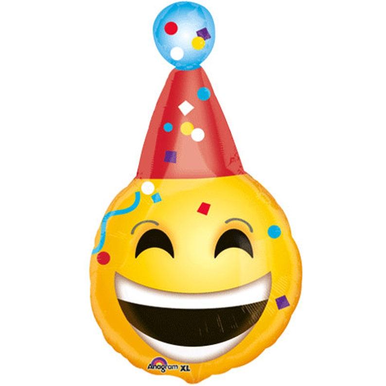 CLEARANCE 18 Emoji Foil Balloon 18 inch Foil Balloon Birthday Wedding Party Decor prop Same Day Shipping