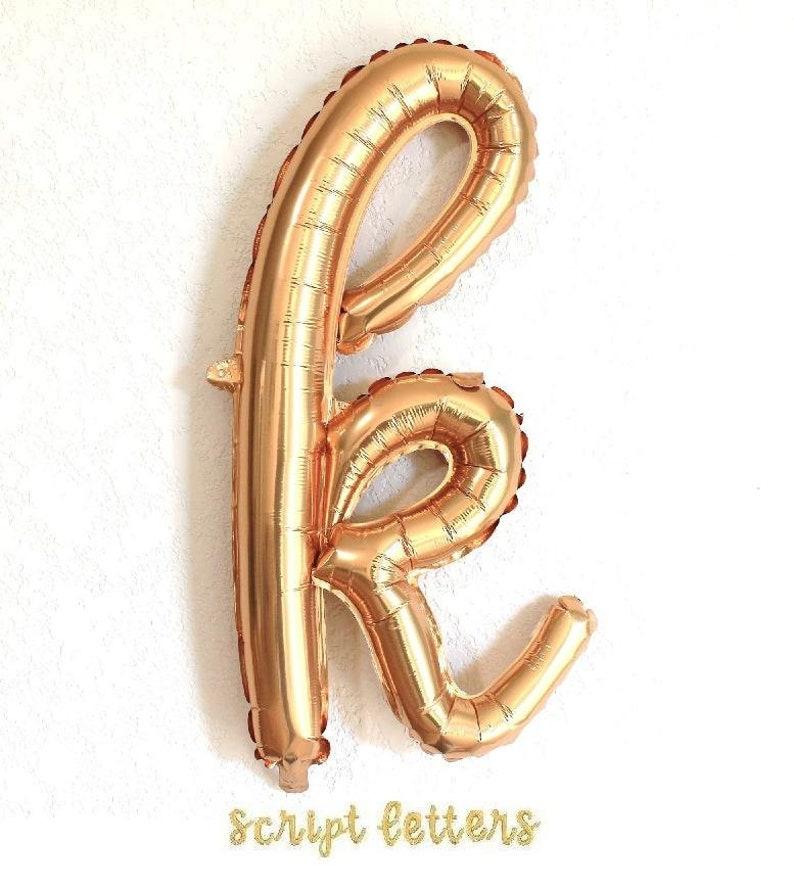 HOORAY 34 Gold Script Foil Balloon Same Day Shipping Monday-Saturday