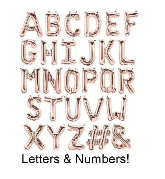 Rose Gold 40 Banner Letters Letter Balloons Alphabet Hashtag Rose Gold Number Rose Rose Gold Letter Balloons Ampersand