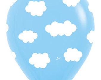 "Clouds Balloons Set of 10 latex Balloons, 11"" Balloons Party, Decor prop ""Same Day Shipping Monday-Saturday"""