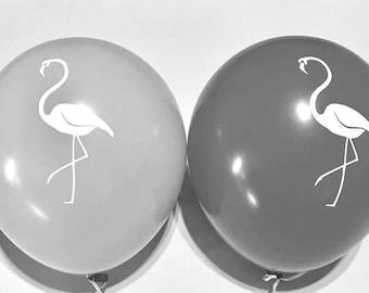 "11"" Flamingo Assortment Balloons Set of 10 Latex Balloons Birthday Party Decor Prop ""Same Day Shipping Monday-Saturday"""