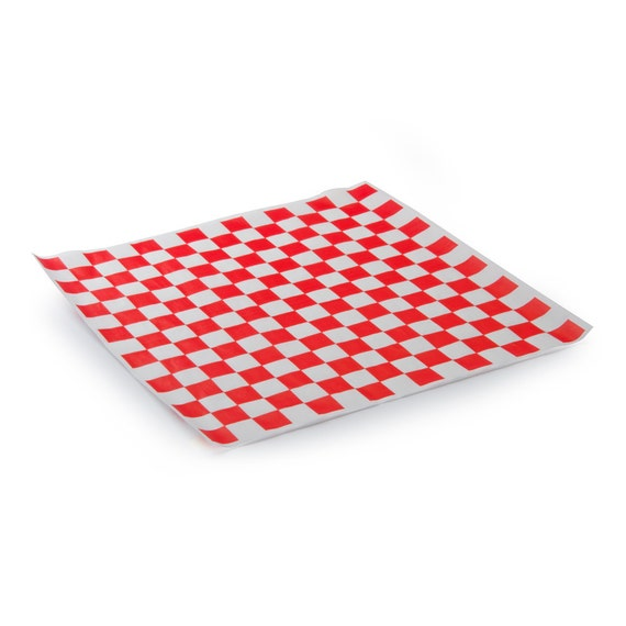 50 sheets red and white checkered deli wrap paper etsy
