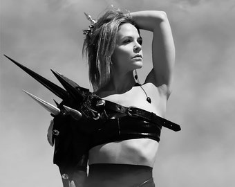 The Warrior: Black and White Photographic Print