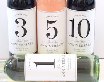 Wedding Guest Book Labels -  Bridal Shower Gift - Milestones Wine Labels - Wine Basket Engagement Gift Anniversary Labels