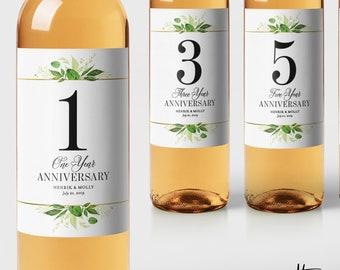 e2cc08113c1 Wedding Guest Book Labels - Foliage Bridal Shower Gift - Milestones Wine  Labels - Leaves Wine Basket Engagement Gift Anniversary Labels