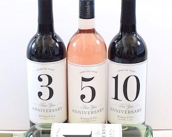 7ed4bba6645 Wedding Guest Book Labels - Bridal Shower Gift - Milestones Wine Labels -  Wine Basket Engagement Gift Anniversary Labels