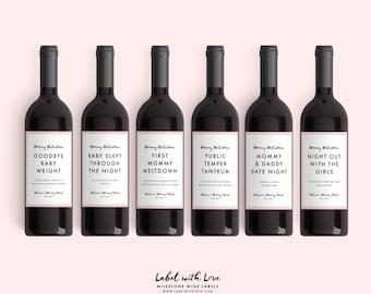 Baby Shower Wine Etsy