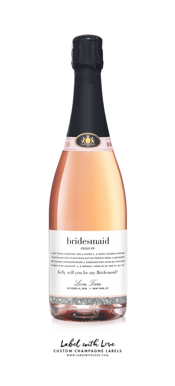 will you be my bridesmaid wine labels bridesmaid definition etsy