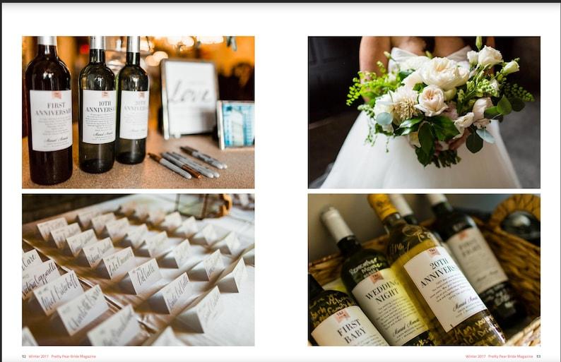 debfee967d3 Milestones Wine Labels Wedding Gift First Anniversary Bridal