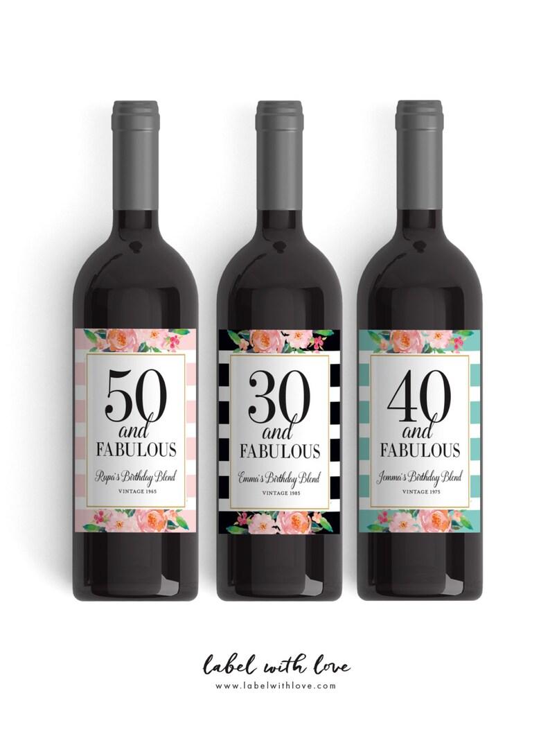 Birthday Wine Label Party Custom