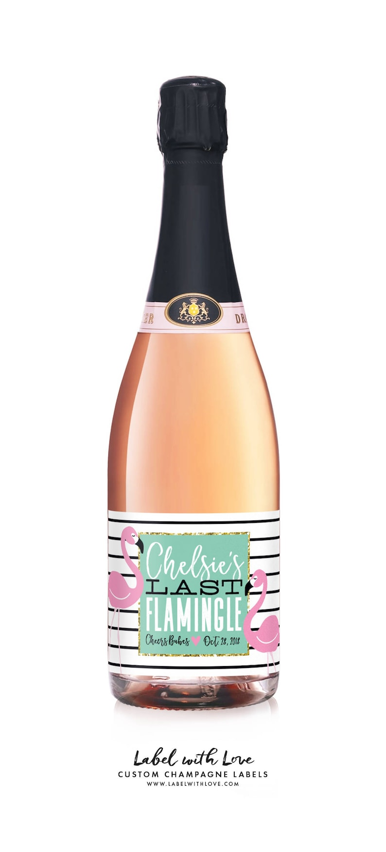 Beach Bridal Shower Pool Floatie Bachelorette Party Wine Labels Flamingo Party Last Flamingle Tropical Palm Springs Weekend Labels