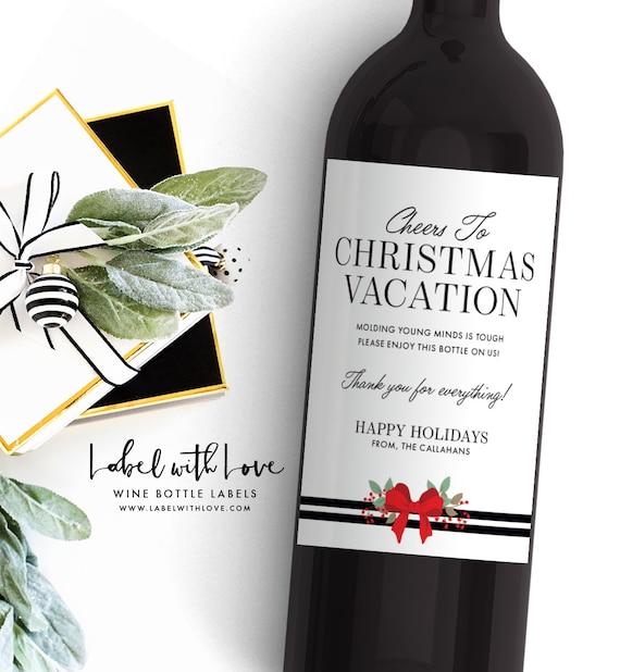 image 0 - Teacher Christmas Gift Custom Wine Label Wine Label For Etsy