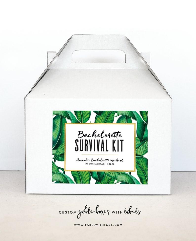 Bachelorette Party Survival Kit Boxes Hangover Survival Kit image 0