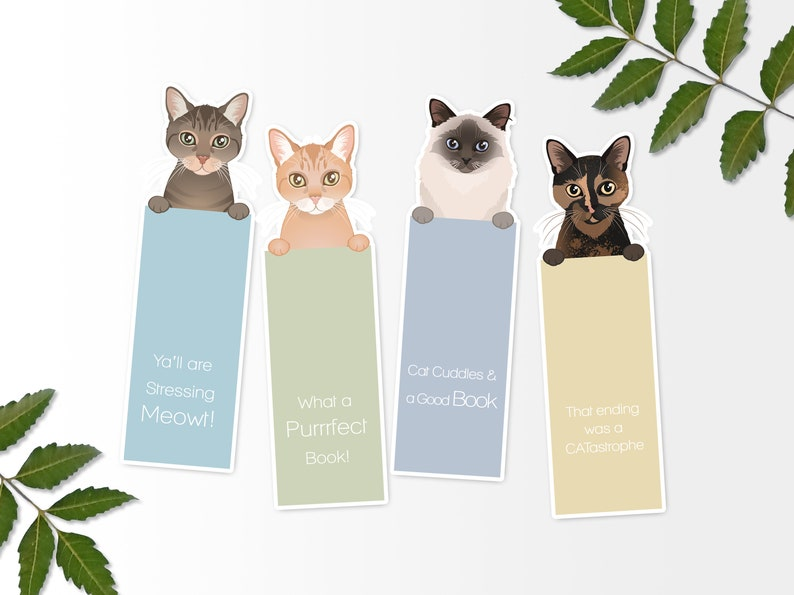 graphic relating to Cat Printable referred to as Printable Cat Bookmarks, Printable Bookmark, Electronic Print, Immediate Obtain Cat Bookmarks, Cat Present, Cat Portrait, Canine Portrait