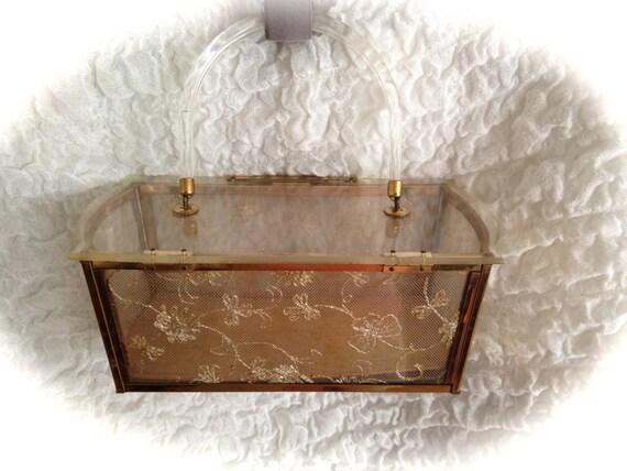 SALE!! rare vintage majesty lucite purse, lucite,