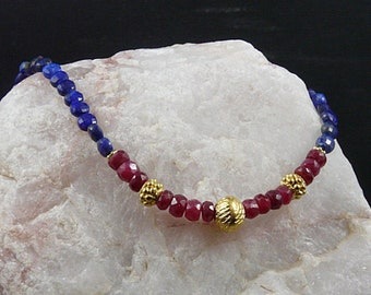 Lapis and Ruby Necklace