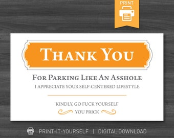 Bad parking cards etsy cheap affordable budget gift for man him boyfriend husband dad brother bad parking cards instant download print at home colourmoves