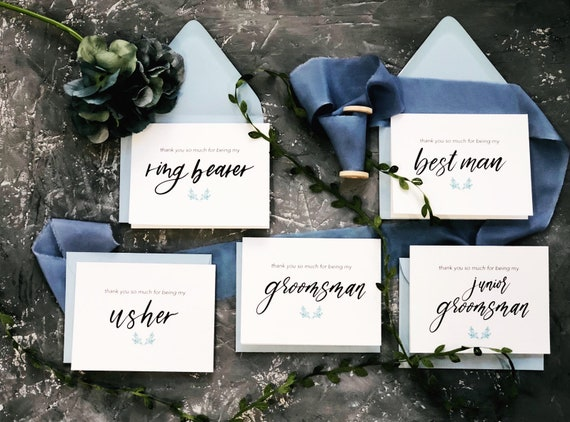 Bridal Party Card Maid of Honor Gift Thank You For Being My Maid of Honor Card Floral Wedding Card Wedding Thank You Cards - FPS0024
