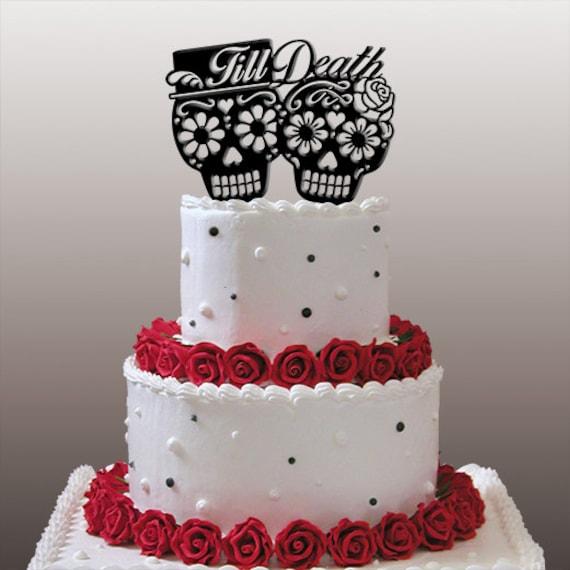 Dia De Los Muertos Till Death Wedding Cake | Etsy