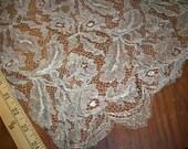 Salesman 39 s sample Metallic light silver lace 1920s authentic antique rose pattern